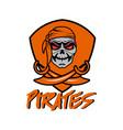 orange pirates vector image