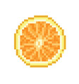 orange pixel icon in the vector image