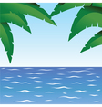 Palm and ocean vector image vector image