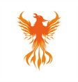 phoenix fire logo vector image vector image