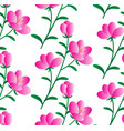 pink flower pattern vector image