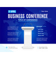 realistic detailed 3d business conference template vector image