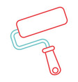roller brush paint repair tool vector image