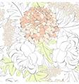 romantic seamless wallpaper vector image vector image