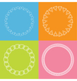 Round abstract geometric shapes frame set Outline vector image