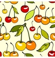 Seamless pattern with decorative sweet cherries vector image vector image