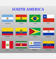 set all flags south america vector image vector image