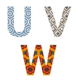 Set of Colorful patterned letters vector image