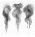 set of digital realistic dark smoke vector image
