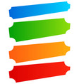 set of simple banner button shapes colorful vector image