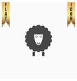 Sheep flat icon vector image