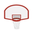 silhouette colorful with rounded basketball hoop vector image vector image
