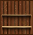 store wood showcase wooden background vector image