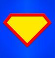 super hero emblem background shape vector image