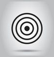 target aim flat icon darts game symbol logo vector image