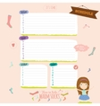 Template for school notebook diary and organizers vector image vector image