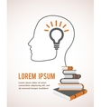 the concept modern education infographic vector image vector image