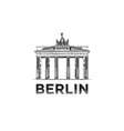 The sketch of The Brandenburg Gate in Berlin vector image vector image