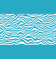 trendy 3d blue and white stripes distorted vector image