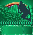 wakeboarder grunge background vector image vector image