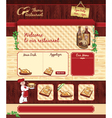 Web template for retro restaurant vector image vector image