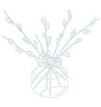 willow branches vector image vector image
