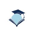 world education logo design template vector image vector image