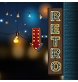Retro Lights Banner vector image
