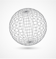 Abstract globe sphere from gray lines on white vector image