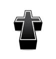 Black cross vector image