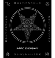 Five-pointed star of magical elements vector image