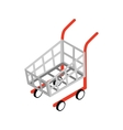 Shopping cart icon isometric 3d style vector image