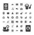 37 vacation icons vector image vector image