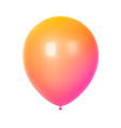 3d colorful birthday balloon vector image vector image