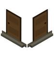 3d design for wooden door vector image