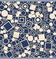 abstract circles squares seamless pattern vector image vector image