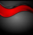 abstract waves on dark perforated metallic vector image vector image