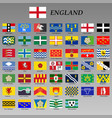 all flags england regions vector image
