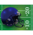 American Football Helmet on Lined Field vector image vector image