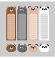 Animal head set Cartoon kawaii baby bear cat dog vector image vector image