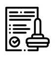 approve stamp icon outline vector image vector image