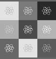 atom sign grayscale version vector image vector image