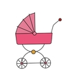 baby carriage icon vector image vector image