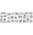 barcodes on packs doodle set vector image vector image