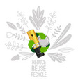 battery reuse and recycle vector image