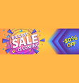 biggest ssale is coming - horizontal advertising vector image