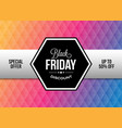 black friday design element with ribbon vector image