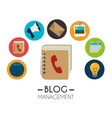 Blog and blogger social media design vector image