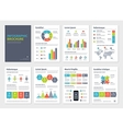 Business A4 brochures with infographic vector image vector image