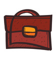 business briefcase colored button with a black vector image vector image